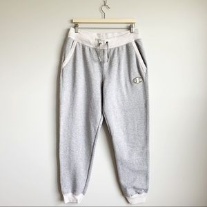 Champion Sweat Pants Grey Jogger Men Large L